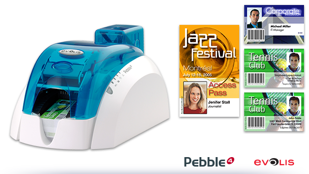 Pebble4 reliable ID card printer
